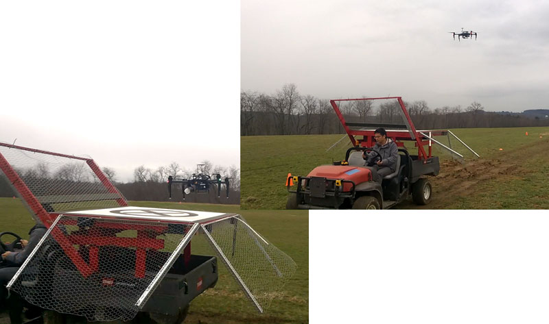 Autonomous UAV Landing on a Moving Vehicle and Real-Time Ellipse Detection